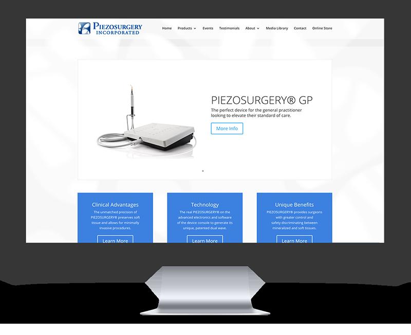 PIEZO surgery web design