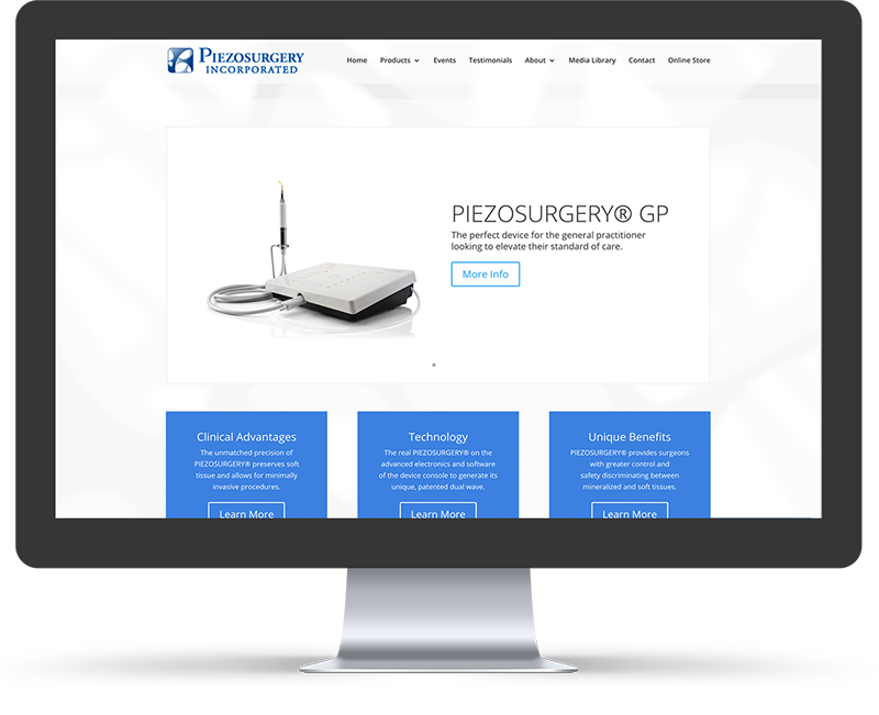 PIEZO surgery web design